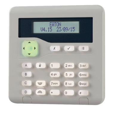 Keypad for setting intruder alarm system